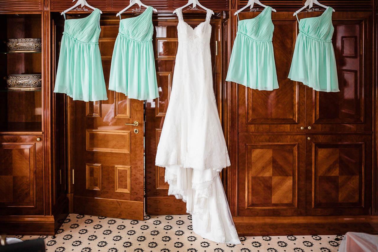 Brautkleid & Bridesmaid-Kleider